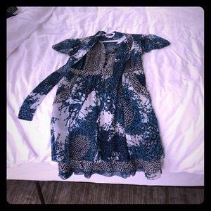 Printed Diane Von Furstenberg Dress sz 0